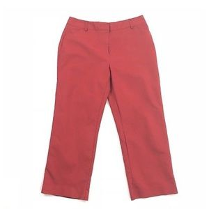 Charter Club Red Katherine Fit Cropped Pants